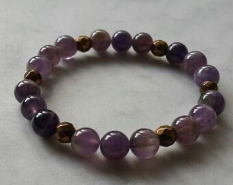 Amethyst and Hematite bracelet