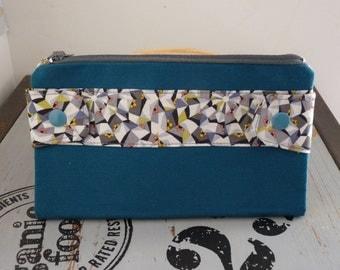 Blue Kaleidoscope wallet