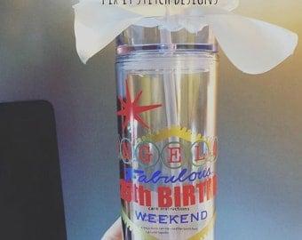 Las Vegas Tumbler, Vegas Cup, Vacation Tumbler, Personalized Bottle, Vegas Birthday Tumbler, Destination Tumbler, Personalized Tumbler