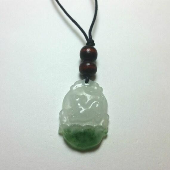rat zodiac jade necklace