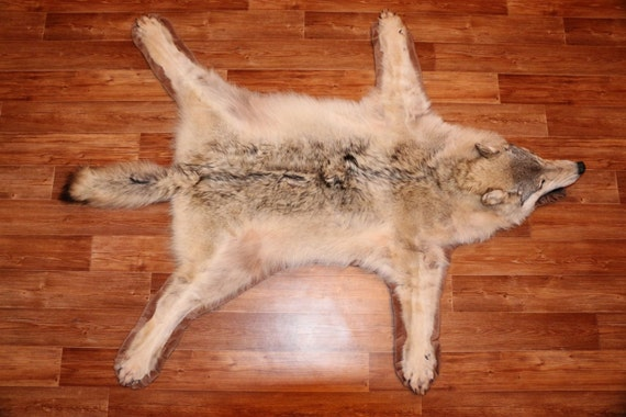 Wolf Skin Rug Home Decor