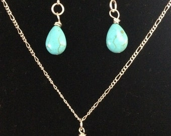 Turquoise & silver set