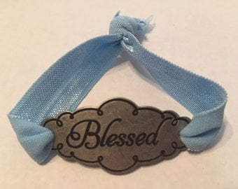 Blessed Burnished Silver Bracelet