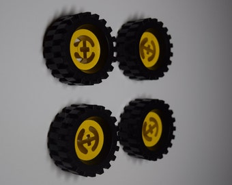 LEGO Wheel Fridge Magnets - 4 or 6 Car Wheel Refrigerator Magnets