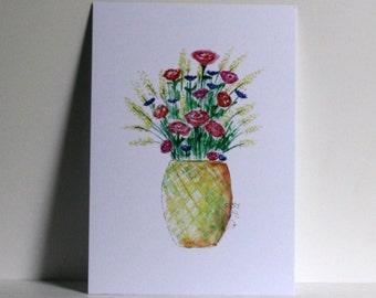 Pineapple flowers Postcard