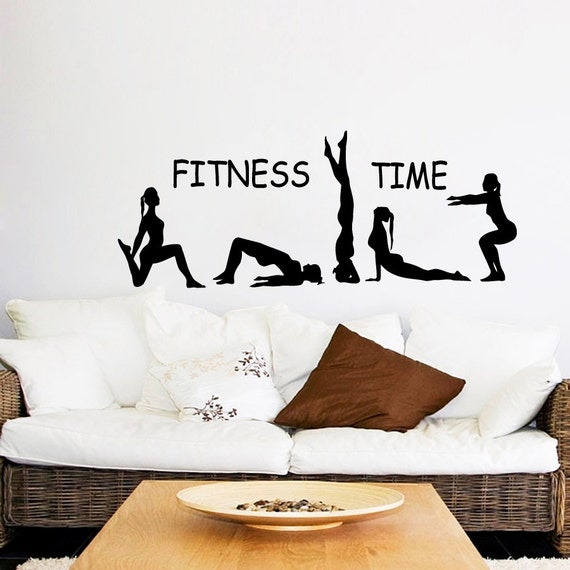 Gym Wall Design: Fitness Wall Decal Fitness Time Athlete Girls By