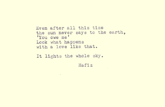 hafiz quotes even after all this time - photo #34