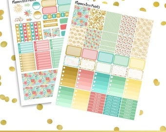 50%off BLOOM Printable Planner Stickers | Instant Download | Pdf and Jpg Format