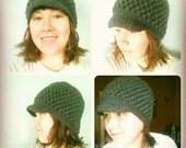 Paperboy crochet hat