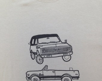 Chevy Truck Shirt- Chevy Truck Tee- Chevy Truck Gift- Chevy K5 Blazer- Sexual Humor- Funny- Hand Drawn Screen Print- Size Medium