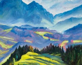 alpine mist - an Original Oil Painting by artocrat