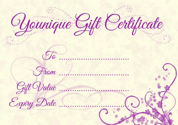 Younique Gift Certificate by OpulentGraphics on Etsy