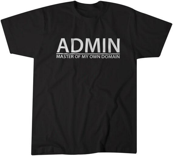 Computer Science Geek Nerd T Shirt Funny Geek Tees Admin