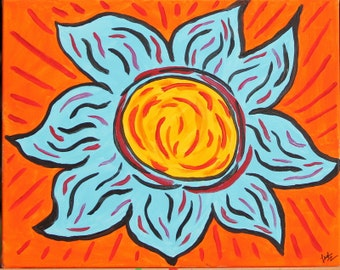 "Painting - ""Flower on Fire"""