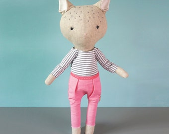 Handmade Doll  ''Charlie'' soft plush toy