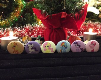 Mane 6 My Little Pony Badges