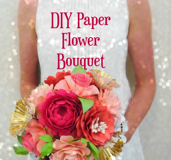 Diy Flower For Wedding: DIY Paper Flower Bouquet Templates & By CatchingColorFlies