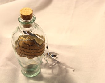 Decorative Bottle with Inspirational Thoreau Quote