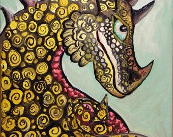 dragon painting, Mischievous Dragon, dragon, game of thrones, harry potter, eragon