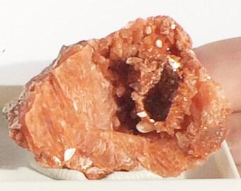 Red Heulandite crystal, Zeolite, Stilbite