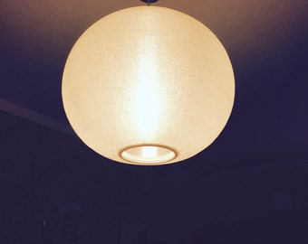 60s / 70s ceiling lamp • Moon pendant lamp • • vintage mid centuryx