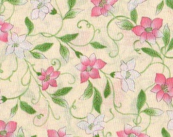 Dainty Blooms - BTY -  Hoffman - Shimmer on Petals