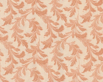 Gaslight - 1 yd - Red Rooster - Orange tonal - Feathers