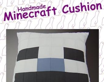 Skeleton from Minecraft. Handmade Minecraft Cushion.