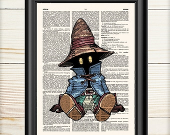 Vivi Final Fantasy 9, Anime Poster, Cloud Strife, Video Game, Anime Cosplay, Dictionary Print, Geek Poster, Anime Gift,  124