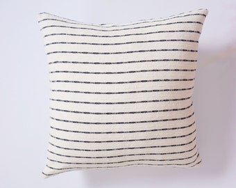 Handwoven cotton pillow