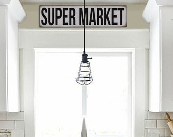 Reproduction Super Market Sign
