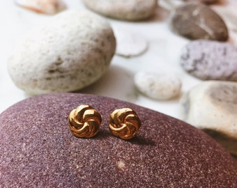 Small Stud Gold Earrings - Post Back
