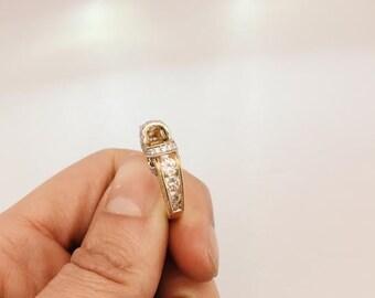14K Yellow & White Gold Diamond Ring Mounting