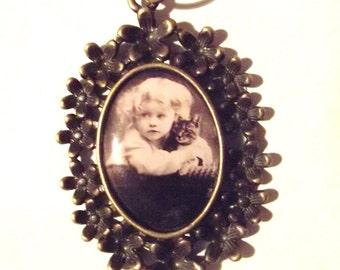 "Bib necklace ""Valentine"""