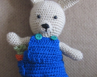 Handmade, Crocheted Dress-Up Bunny (boy)