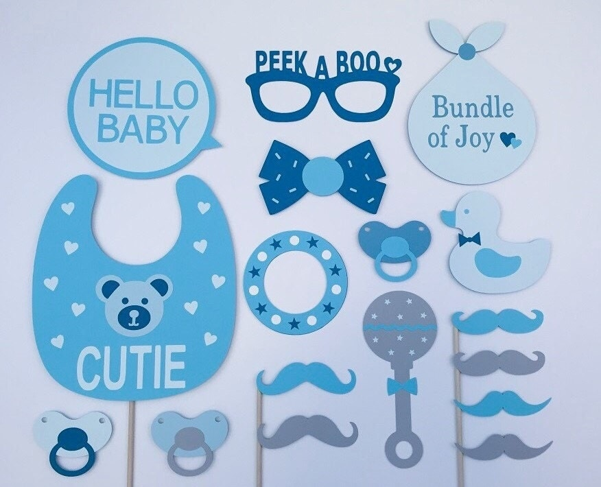 baby boy newborn props baby shower party props by raiseyourprops