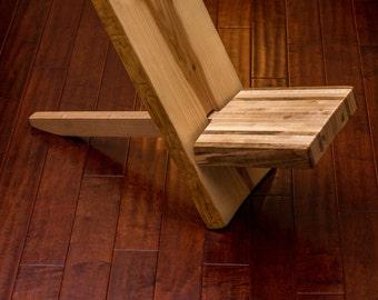 Reclaimed wood chair, live edge slab, ash, butcher block, maple, furniture, salvaged