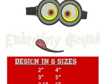 MINION Two eyes Embroidery Design (6 sizes) DISNEY Minions Towel Hooded Despicable Me Bob Stuart