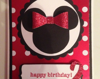 Minnie Mouse Birthday Card