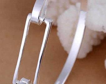 Stunning Bangle Bracelet, Trendy Bracelet, Silver Bangle Bracelet, Affordable Lady's Gift, Valentine's Gift.