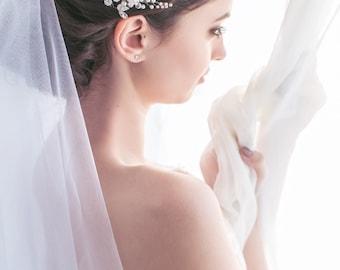 Bridal Comb with Swarovski Pearfs and Crystal Bridal Hair Comb