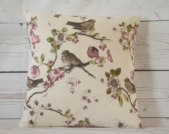 """Vintage Blossom Birds~ 14"""" pillow/cushion cover shabby chic style  (a) last one!"""