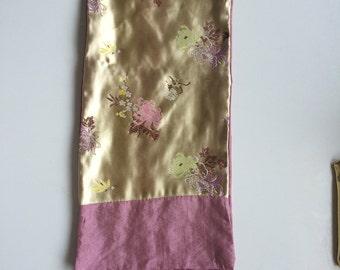 Chinese Silk Brocade Shawl (2 sides)