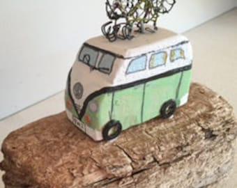 Camper-van driftwood art