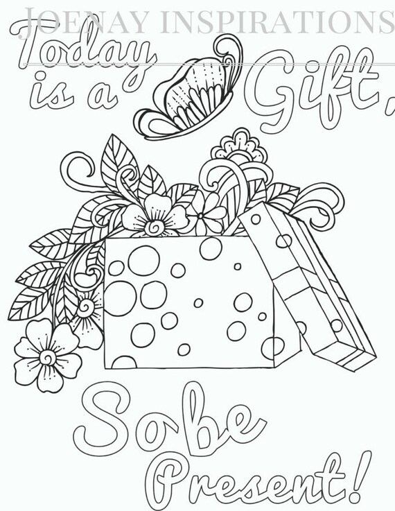 Adult Coloring Book Printable Coloring Pages, Coloring Pages, Coloring Book for Adults Instant Download Inspiration and Affirmation 1 page11