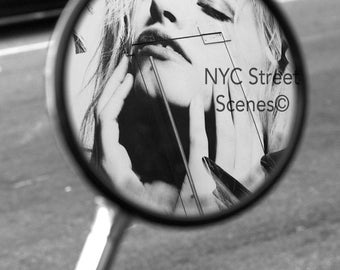 Mirror Beauty© - B&W Image NYC Street Scenes