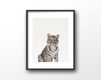 Tiger art print - Tiger wall art decor - Tiger photo print - Tiger photography - Black and white art - Modern wall prints - Animal wall art
