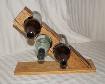Reclaimed Wood Wine Rack, Tabletop Wine Rack, Countertop Wine Rack, Small Wine Rack