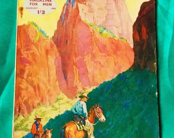 Vintage Magazine - The Wide World The Magazine For Men -  August 1950 - used