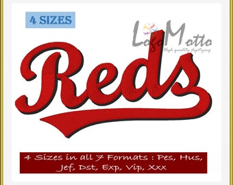 CINCINNATI REDS EMBROIDERY designs Mlb Baseball logos
